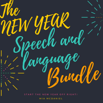 New Year Speech and Language BUNDLE