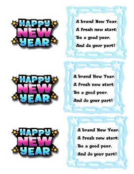 New Year Student Gift Tag