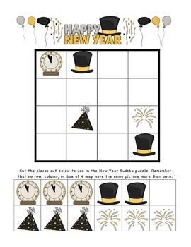 New Year Sudoku Puzzles