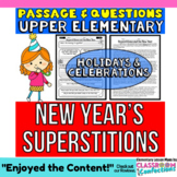New Year's: Reading Passage with Questions: Reading Comprehension