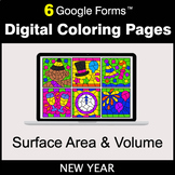 New Year: Surface Area and Volume - Google Forms | Digital