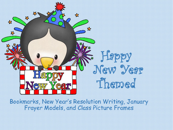 New Year Themed Bookmarks and Writing Activities