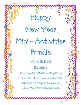 New Year Themed Mini-Activities Bundle