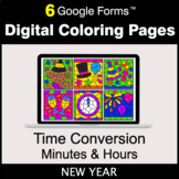New Year: Time Conversion: Minutes & Hours - Digital Color