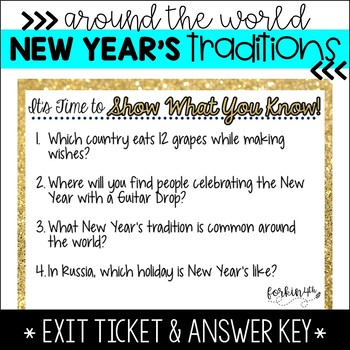 New Year Traditions {Around the World} presentation