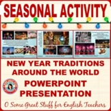 New Year Traditions and Celebrations Around the World Vibrant PowerPoint