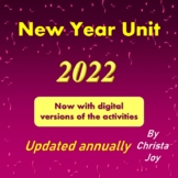New Year Unit 2021 for Special Ed with digital activities