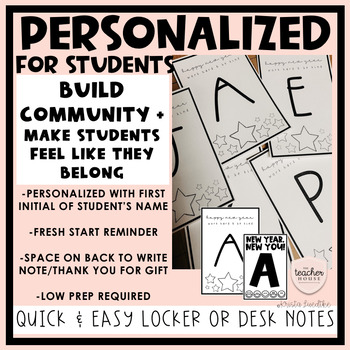New Year Welcome Back Notes