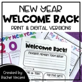 New Year Welcome Back Pack - Goals & Resolutions Print & Digital