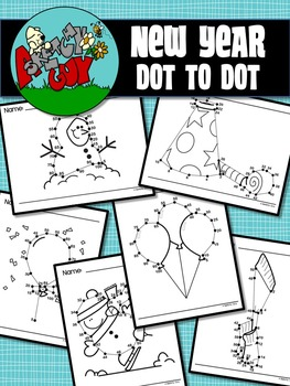 New Year / Winter Dot to Dot / Connect the Dots Skip Counting 2 - 50 and 5 - 100