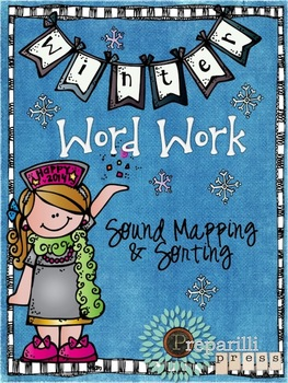 Printable Phonics Pack (New Years Day/Winter Word Work) Re