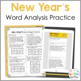 New Year Word Analysis Worksheets (SOL 4.4) Print and Digital