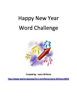 New Year Word Challenge