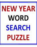 New Year Word Search Puzzle