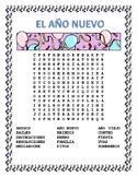 New Year - Word Search and Double Puzzle- Spanish