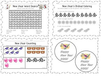 New Year Worksheets and Packet