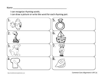 New Year Write the Room: Rhyming Word Pairs {FREE}