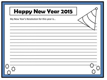 New Year Writing Activity