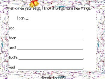 New Year Writing Activity