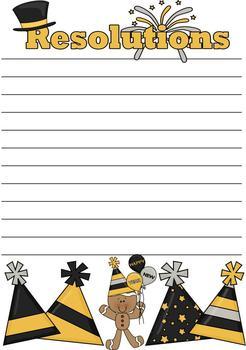 New Year Writing - Creative Writing Stationery