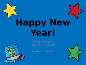 Happy New Year Writing Templates and Printables
