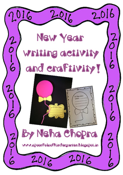 New Year Writing activity and Craft