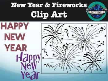 new year and fireworks clip art package