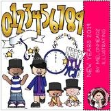 New Year clip art - COMBO PACK - Melonheadz Clipart