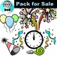 New Year clip art party-popper (Free Sample)
