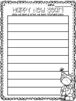 New Year freebie: Emergent Reader & Read the Room/Write the Room Center