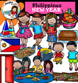 New Year in Philippines clip art