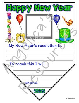 New Years Activities 2019 : New Year's Resolution Writing Craftivity