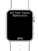 New Year's 2016 Resolutions iWatch Template