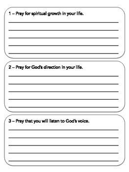 January Prayer Journal