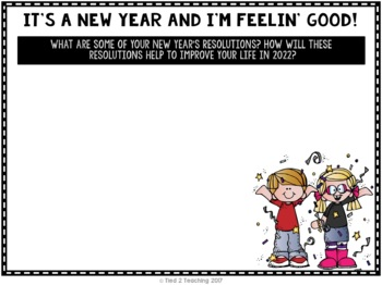 New Year's 2018 Writing Activity a Google Classroom Activity