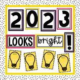 New Year's 2019 Bulletin & Door Decor | Easy to Prep | 2 size options