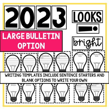 New Year's 2019 Bulletin & Door Decor   Easy to Prep   2 size options