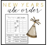 New Year's ABC Order - FREEBIE - Print and Go