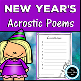 New Year's Acrostic Poems | New Year's Creative Writing Activity