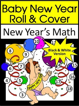 New Year's Game Activities: Baby New Year Roll & Cover Mat