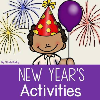 New Year's Activities including New Year's Resolution