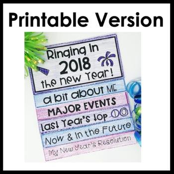 New Year's Activities Flip Book