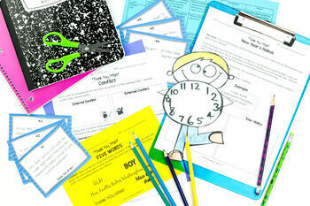 """New Year's Reading & Writing Activities Middle School {""""Thank You, M'am"""" Story}"""