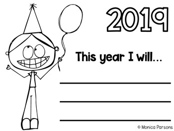 New Year's Activities for First Grade