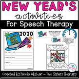 New Year's Would You Rather & Activities for Speech Therapy