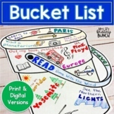 Distance Learning Bucket List Activity | Print and Digital