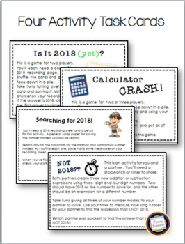 New Year's 2018 Addition and Subtraction for Third Grade