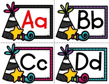 New Year's Alphabet Cards