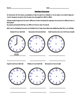 New Year's Around the World - Different Time Zones