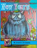 New Year's Monster Art Lesson